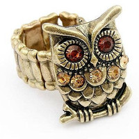 Vintage Style Stretch Owl Finger Ring wholesale from yiwu,China