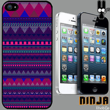 Cover for iPhone 5>Aztec>Pattern>Cool>90's>Ibiza>Quirky>Phone Case +6060