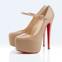 Christian Louboutin platforms lady daf 160mm beige [2011072211] - $189.00 : Christian Louboutin Shoes Sale, Enjoy 77% Off On Designer Outlet