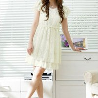 Wholesale Lovely Yellow Lace Day Dresses