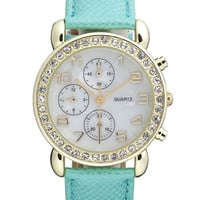 Titanium Rhinestone Diver Watch | Nordstrom