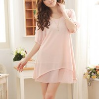 Simple Style Delicate Comforbale Pink Ladies Dresses : Yoco-fashion.com