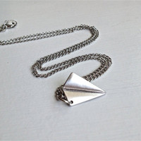 Paper Airplane Necklace Harry Styles One Direction 1D Origami