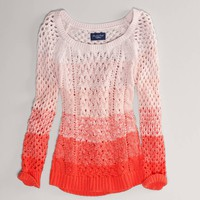 AE Ombre Open Stitch Sweater | American Eagle Outfitters