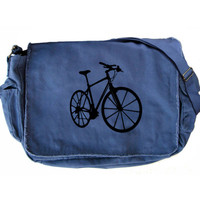 Bicycle Messenger Bag Large Blue Laptop Messenger Bag