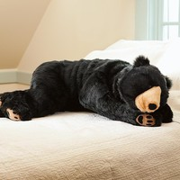 Teddy Bear Body Pillow, Bear Hug Body Pillow - Plow &amp; Hearth