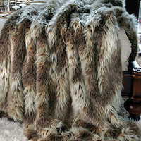 Limited Edition Russian Lynx Faux Fur Throw 60 X 60 | Fabulous-Furs
