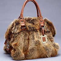 Coyote Fur Satchel | Fabulous-Furs