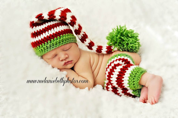 Child Elf Hat Crochet Pattern : Crochet Baby Elf Hat, stocking and from ...