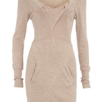 Stone long sleeve jumper dress - Brands at DP  - Dresses  - Dorothy Perkins