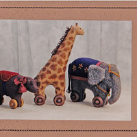 Circus Animal Patterns: Homebodies Circus Ways - Bear, Elephant, Giraffe