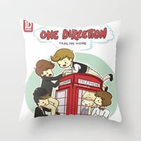 Take Me Home Cartoon One Direction Throw Pillow by xjen94 | Society6