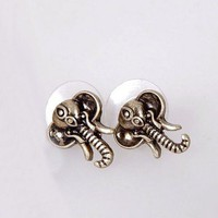 Vintage Retro Elephant Earrings