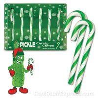 Pickled Flavored Candy Canes