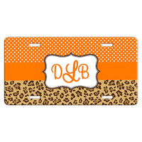 Personalized License Plate Car Tag - Cheetah