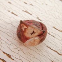 Little Fox bead  Sleepy Woodland Critters by TreeWingsStudio