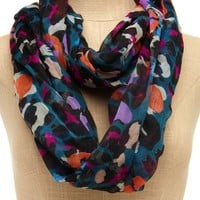 Color Pop Leopard Scarf: Charlotte Russe