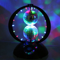 Disco Planet Rotating LED Mirror Ball Light - ShopGadgetsAndGizmos.Com