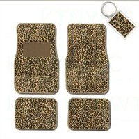 Amazon.com: A Set of 4 Universal Fit Animal Print Carpet Floor Mats for Cars / Truck and 1 Key Fob - Cheetah Tan: Automotive
