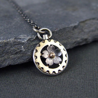 Steampunk Inspired Cherry Blossom Pocket Watch by HapaGirls