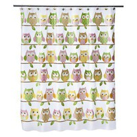 Circo? Love N Nature Owl Shower Curtain 