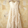 Free People Vintage White Lace Strapless Dress