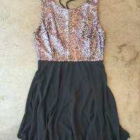 Whimsy & Sparkle Dress in Charcoal [3545] - $30.60 : Vintage Inspired Clothing & Affordable Fall Frocks, deloom | Modern. Vintage. Crafted.