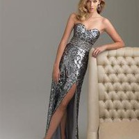 Prom dress Night Moves Silver Sequins