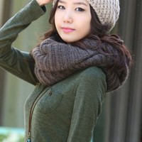 Hot Sale Korean Fashion Junior Scarves Dark Gray : Wholesaleclothing4u.com