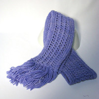 Periwinkle Malabrigo Hand Knit Scarf