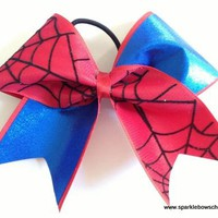 Spidey Super Hero Cheer Bow Cheerleading