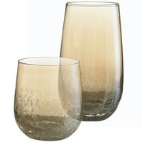 Amber Crackle Tumblers