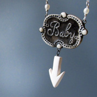 Maternity Pendant for the Mom to Be Porcelain on by MaidOfClay
