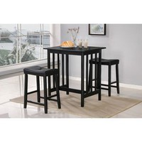 Walmart: World Imports Furnishings 3 Piece Bar Table Set in Black