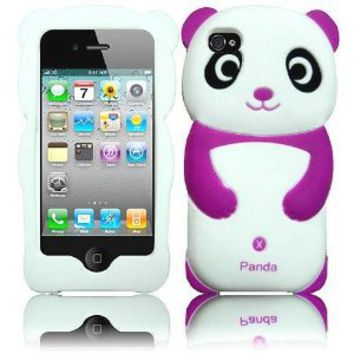 Amazon.com: Dark Purple Panda Silicone Jelly Skin Case Cover for Apple Iphone 4G, 4, 4S and 4GS: Cell Phones & Accessories