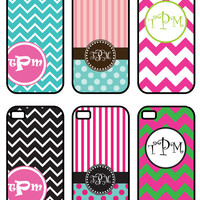 CYBER MONDAY sale Personalized Monogram iPhone 4 OR  Iphone 5 Case - Chevron - Create Your Own - Custom iPhone Case