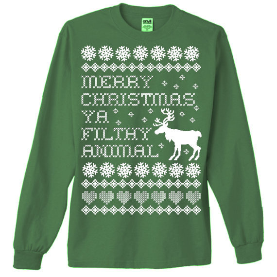 Ugly Christmas Sweater T-Shirt Home Alone From