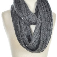 Sparkle Infinity Scarf in Charcoal - New Arrivals