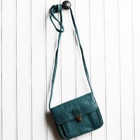many the miles mini crossbody bag in teal - $19.99 : ShopRuche.com, Vintage Inspired Clothing, Affordable Clothes, Eco friendly Fashion