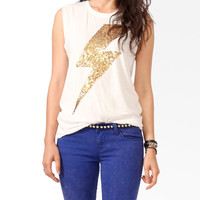 Sequined Bolt Muscle Tee