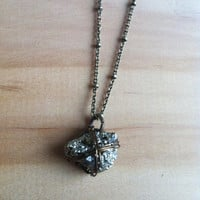 Shiny Little Pyrite Nugget Necklace