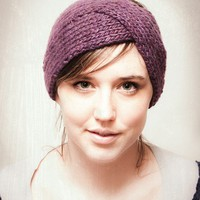 KNITTING PATTERN Parisian Twist Headband Ear by mclaughlindesigns