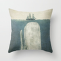 White Whale Throw Pillow by Terry Fan | Society6