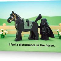 """I feel a disturbance in the horse."" Greeting Cards & Postcards by powerpig 
