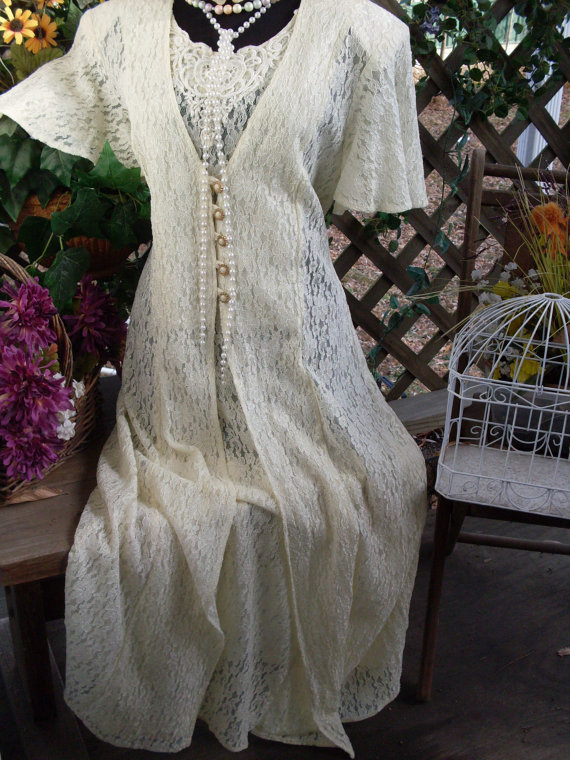 Pictures Of Shabby Chic Wedding Dresses : Vintage wedding dress shabby chic gypsy from
