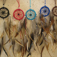 small dream catcher perfect for your car or bed room, dreamcatcher