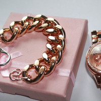 Ultra Bold: Rosegold Chunky Bracelet, Chunky jewelry, Chunky bracelet