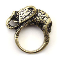 vintage gold elephant ring fashion symbols mean lucky rings women by ClothLess