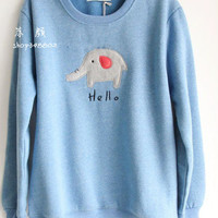 new round neck long sleeve loose womens cashmere sweater coat cartoon Korean sweet by ClothLess