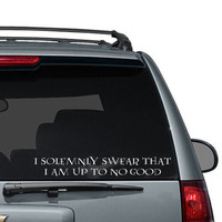 I Solemnly Swear Car Decal